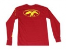 Duck Commander Long Sleeve Shirt: Red/Yellow | Small